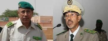 الفريق محمد ولد القزواني قائد الجيوش ومساعده الفريق حننه ولد سيدي