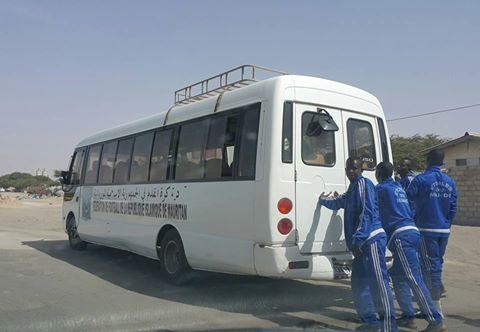 باص الإتحادية يرفع وسط العاصمة - من صفحة الأستاذ سيد احمد ولد الخليل
