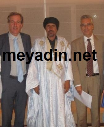 """من اليمين إلى اليسار: السفير الفرنسي، مدير صحيفة """"ميادين""""، والمندوب الفرنسي الخاص لمنطقة الساحل"""